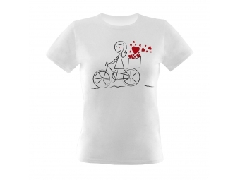 Tričko KLASIK NEW s priamou potlačou, biele, bavlna