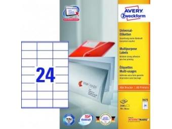 Avery Etikety univerzálne 70x36mm biele (bal=100hár)