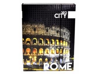 Box na zošity A4 s gumičkou, dizajn Jumbo Rím