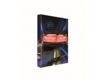 Box na zošity A5 s gumičkou, dizajn Auto