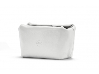 LEICA Soft leather pouch magnetic size S, mäkké kožené púzdro biele