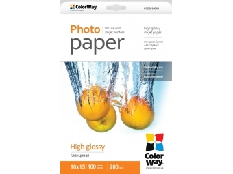 ColorWay Foto papier Vysoko lesklý 200g/m2, 100ks, 10x15