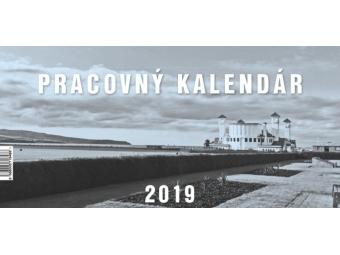 Kalendár 2019 PRACOVNÝ veľký Neo stolový,týždenný,stĺpcový 297x142mm