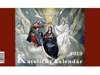 Kalendár 2019 KATOLÍCKY Neo stolový,dvojtýždenný,riadkový 259x152mm