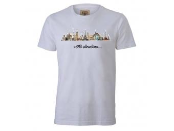 Tričko PREMIUM s priamou potlačou, biele, bavlna