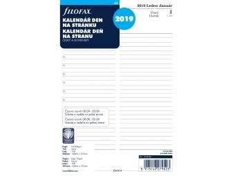 FiloFAX Náhradná náplň do diára A5, kalendár 2019 deň/1 str., linajkový