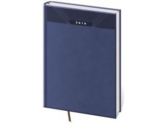 Diár 2019 PRINT Classic denný,400 str,21x29,7cm (A4) modrý