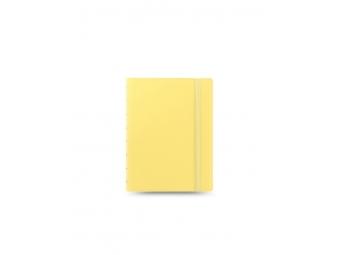 FiloFAX Notebook Pastel,krúžk. pozn.blok s vymeniteľ.listami, A5 žltý