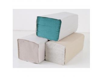 Papierové uteráky skladané ZZ 1-vrstvové zelené 20bal (1bal=250útržkov)