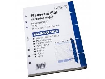 Herlitz Náhradná náplň do diára A5,kalendár 2019 týžd/2str.
