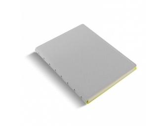 FiloFAX Notebook Saf.Fluoro,krúžk. pozn.blok s vymeniteľ.listami, A5 sivo-žltý