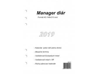 Herlitz Náhradná náplň do diára A5,kalendár 2019 slov. 1denný/1str.