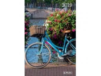 Herlitz Diár 2019 A5 denný 352 str,15x21cm Retro bicykel