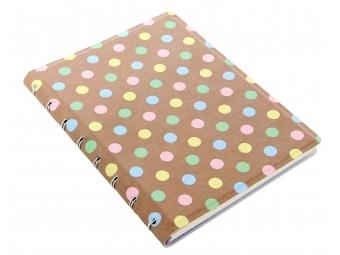 FiloFAX Notebook krúžk. pozn.blok, A5 Pastel Spots