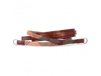 LEICA Neck strap lifestyle leather/fabric check