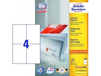 Avery Etikety univerzálne 105x148 mm (bal=100hár)