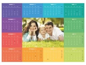 Kalendár POSTER do A0 nástenný ročný (1list)