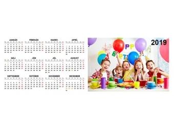 Kalendár MAGNETKA (28x10cm), na šírku