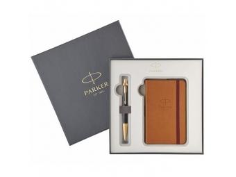 Parker Royal I.M. Premium Black GT gul.pero + zápisník