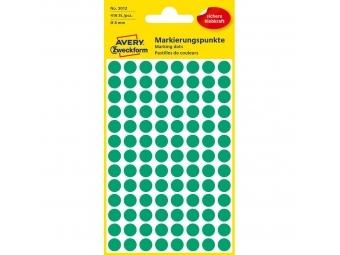 Avery Etikety kruhové zelené 8mm (bal=4hár)