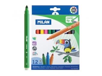 MILAN Fixy 0,5mm - sada 12ks guľaté