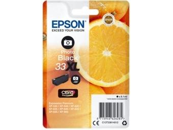 Epson T3361 Atramentová náplň Photo Black Claria Premium, 33XL