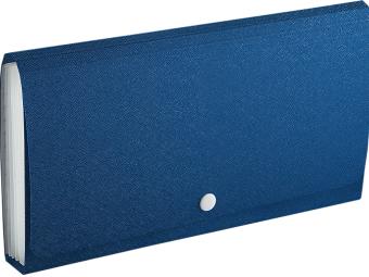 Taška na dokumenty F4305 ELEGANT STONE, DL s 13 priehradkami, modrá