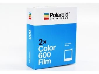 Polaroid film 600 dvojbalenie Color biely rámik pre polaroid 600