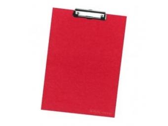 Herlitz Písacia podložka s klipom kartónová červená