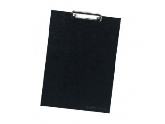 Herlitz Písacia podložka s klipom kartónová čierna