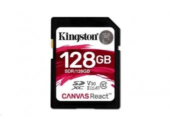 Kingston 128GB Canvas React SDXC card UHS-I U3 100R/80W MB/s