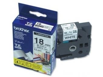 Brother TZE-241 Laminovaná páska 18mm biela/čierna