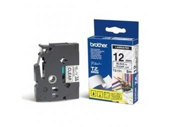 Brother TZE-131 Laminovaná páska 12mm priehľadná/čierna