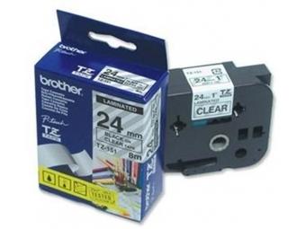 Brother TZ-151 Laminovaná páska 24mm priehľadná/čierna
