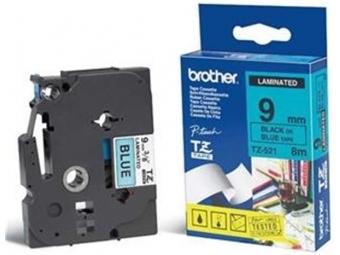 Brother TZE-521 Laminovaná páska 9mm modrá/čierna
