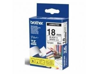 Brother TZE-S241 Laminovaná páska 18mm biela/čierna