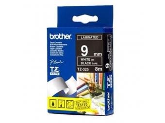 Brother TZE-325 Laminovaná páska 9mm čierna/biela