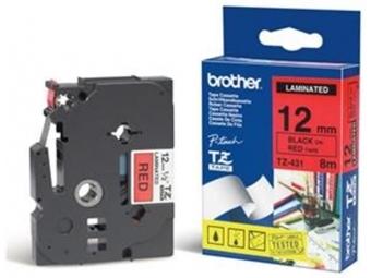 Brother TZE-431 Laminovaná páska 12mm červená/čierna