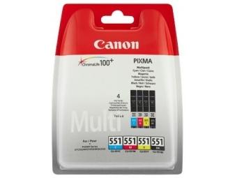 Canon CLI-551 Atramentová náplň Multipack C/M/Y/K XL