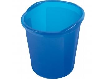 HELIT Kôš plastový Economy 13l priesvitný modrý