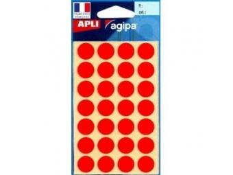 AGIPA Etikety kruhové na A5 15mm červené (bal=6hár,168ks)