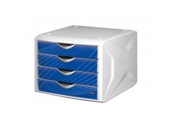 Helit Zásuvkový box Chameleón,biela/modrá