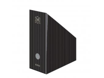 Herlitz Stojan na časopisy dizajn MONTANA kartón.,čierny
