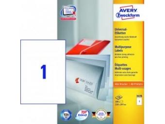 Avery Etikety univerzálne 210x297mm (bal=100hár)