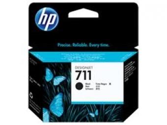 HP No.711 Atramentová kazeta Black, 80ml (CZ133A)