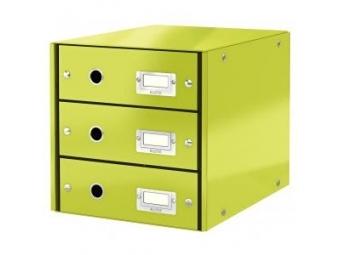 Leitz Zásuvkový box Click&Store,3 zásuvky metal.zelená