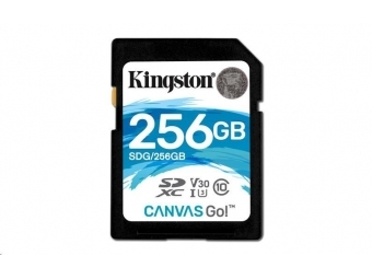 Kingston Secure Digital Card SDXC 256GB Canvas Go! 90/45MB/s class 10 UHS-I U3