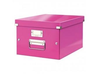 Leitz Univerzál.škatuľa Click&Store so sklápacím vekom ružová