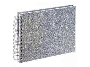 Hama 2590 album klasický špirálový GLAM 24x17cm,50 strán,strieborný,biele listy