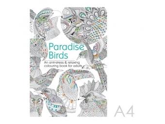 JUNIOR Antistresové omaľovánky pre dospelých - Vtáky raja